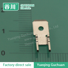 H-shape terminal lugs/Brass Male Small Electrical Motor Connector Terminal DJ6117-6.3*0.8