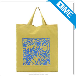 2016 High Quality Customized Yellow Eco Cotton Bag