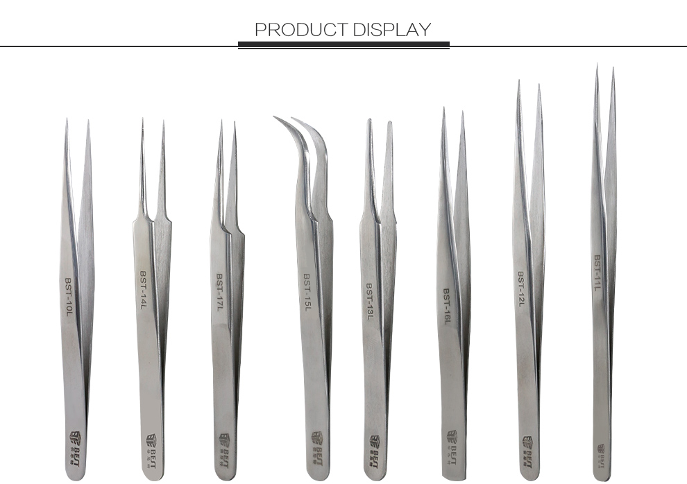 Precision Tweezers Thicken Stainless Steel Electronics Multi Tools eyelash extension tweezers