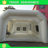 Proffessional best sell used car inflatable paint booth for sale