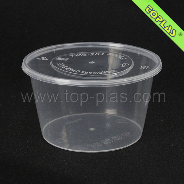 Large Packing Bowl 1000ml PP Clear Plastic Disposable Hot Soup Bowl