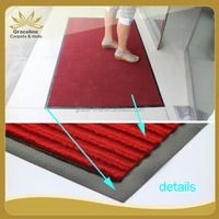 Thick silk ribbed carpet with PVC backing