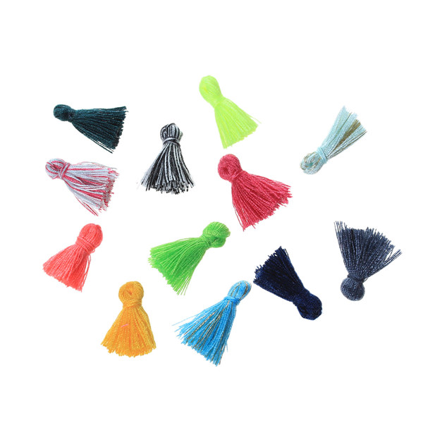 Wholesale 15mm Long Cotton Mini Tassel For Jewelry DIY