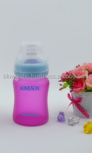 Wholesale regular neck MINI 60ml glass baby feeding bottle with silicone enclosing