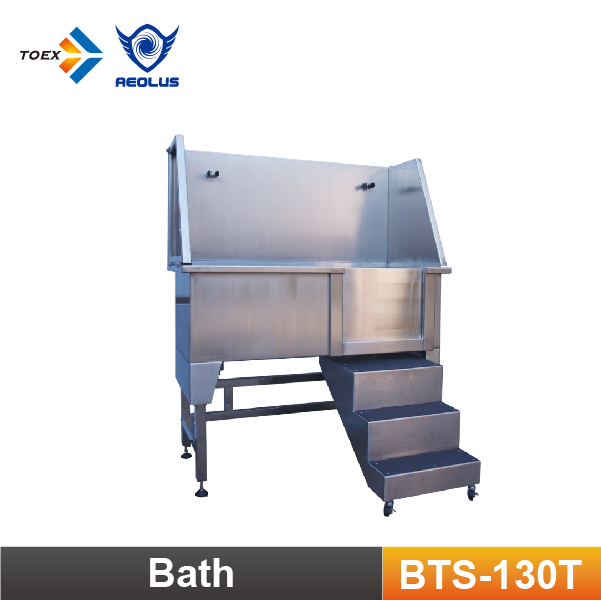 BTS-130T Customize Stainless Steel Sliding Ramp Dog Bath tub Folding Bathtubs for Pets Care