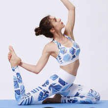 New sports yoga pants women's printed trousers high-strength elastic tight fitness clothes