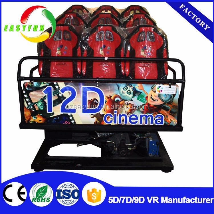 Best investment cinema plan! amusement games 5d cinema 5d kiddie ride racing simulator 7d with 3d blue