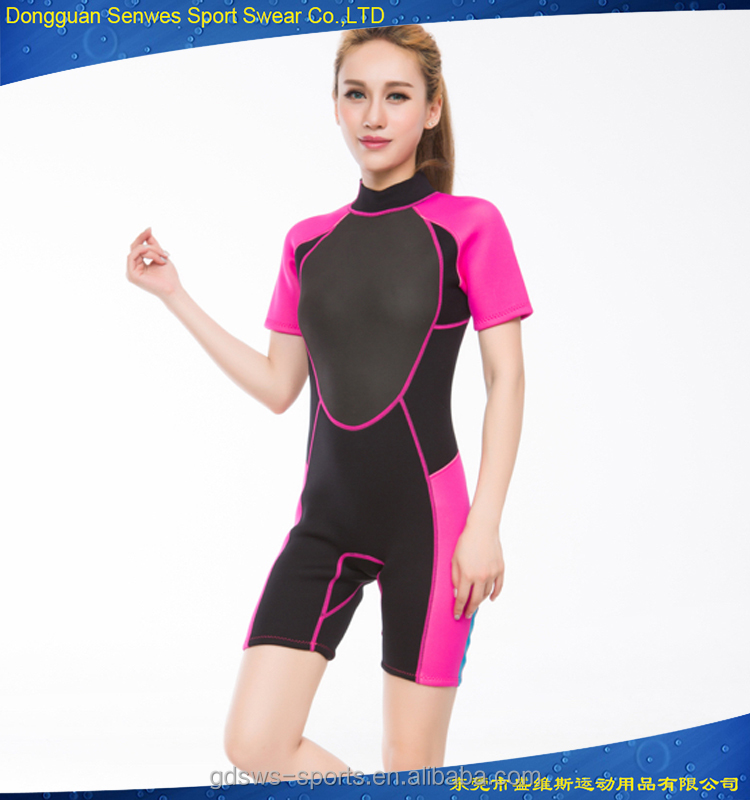 wholesale 3mm neoprene plus size sexy women shorty surf wetsuits