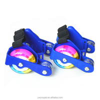 3 colors Kids Adjustable Glider Heel Skates glittery Street Gliders