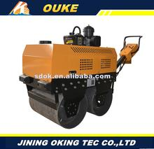 Multifunctional 600mm double steel wheels diesel engine daul drum road roller,mini compactor,small road roller with High-quality