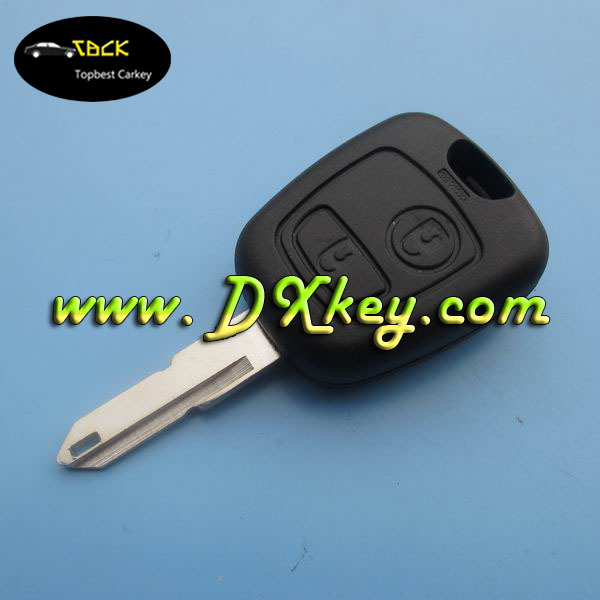 Best price 2 buttons remote key with 434 MHz ID46 Chip for peugeot 206 remote key