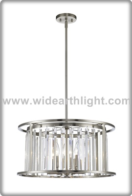 UL/CUL Listed Modern Metal/Crystal Restaurant Lighting Decoration In Nickel Finish C50348