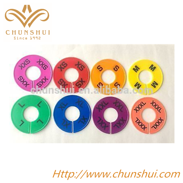 colorful clothing size dividers round closet dividers