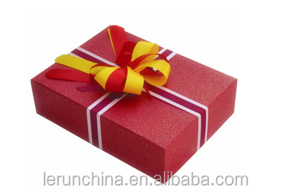 new design christmas cloth gift box with ribbon