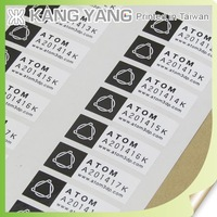 Inventory labels - custom shape adhesive inventory labels tags