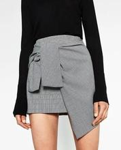 4304 Runwaylover hot sale ladies hot irregular plaid <strong>skirt</strong>