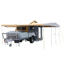 Aluminum hard and cargo floor camper trailer forward folding for sale