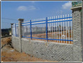 Powder-coating tubular steel fence