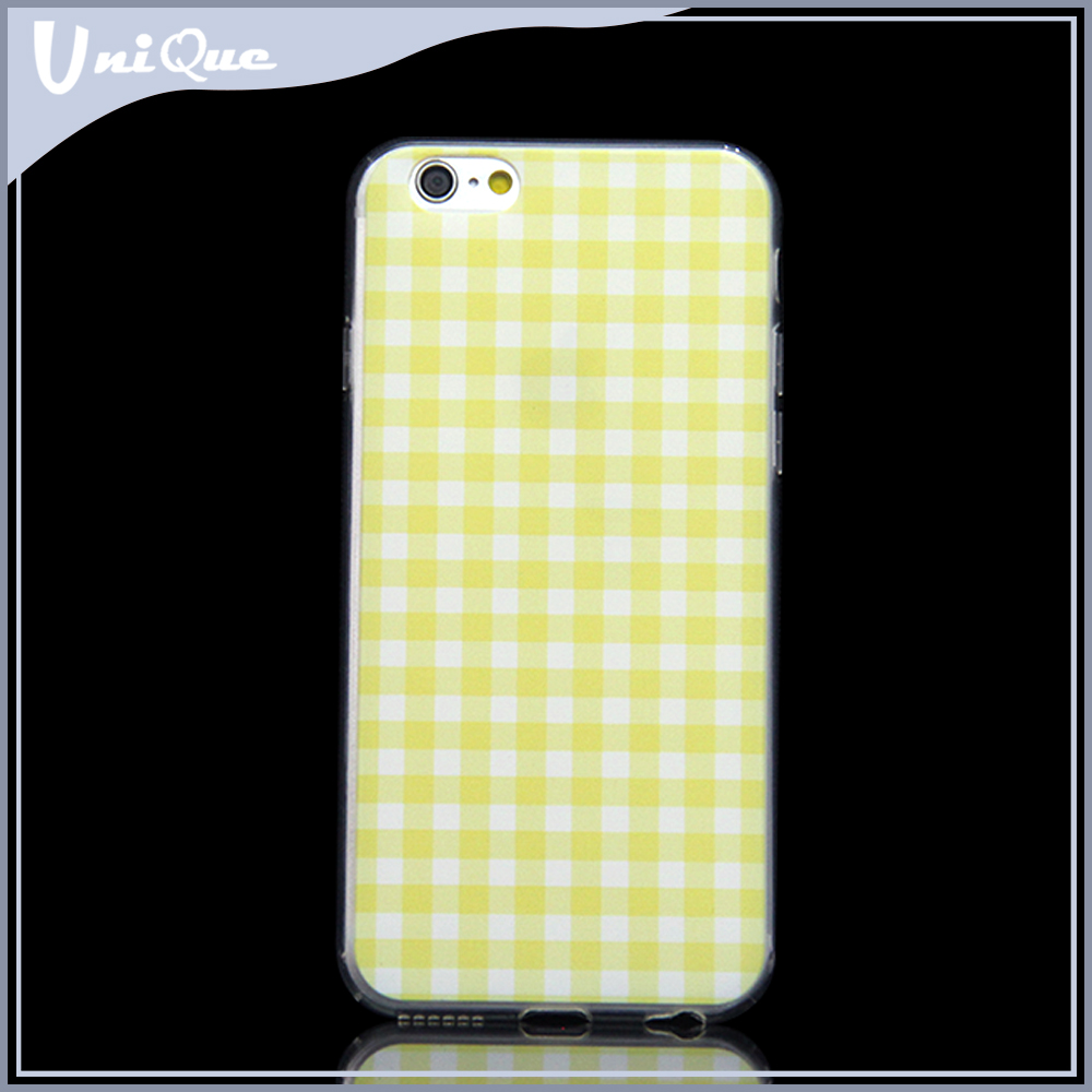 China supplier lattice design pattern mobile phone soft case cover for iphone 6