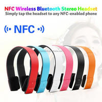 Top seller Wireless 2.4GHz ISM Comfort adjustable NFC Bluetooth Stereo Headphone for cellphone NFC Headphone