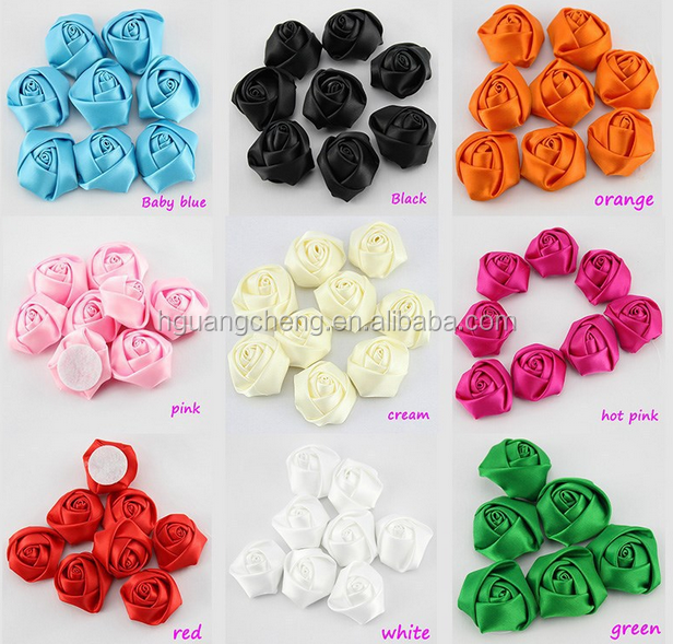 plain mix colors shabby chiffon flower single pieces cut one by one
