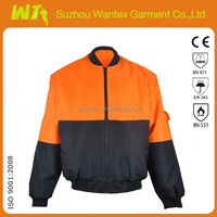 Bomber winter super warm hi-vis jacket EN20471 mens jacket/wholesale alibaba protective clothing used jacket