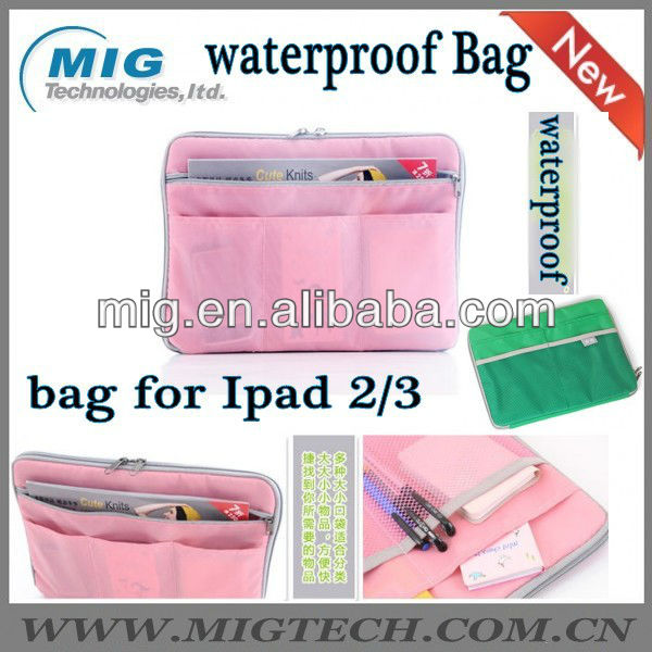 Waterproof shoulder strap hand bag for Ipad 2 3