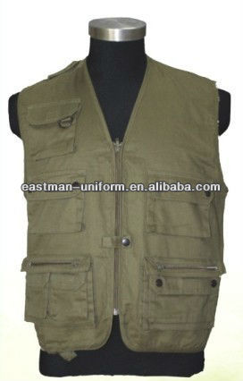 Mens Geo/Fishing Vest,Outdoor Waistcoat with Multi-Pocket,Cheap Workwear/Uniform