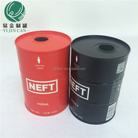 China Can sopplier customzing round tinplate wine box for VODKA
