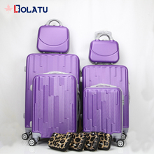 In stock 6pcs luggage set and make-up bag ABS hard shell travel trolley suitcase