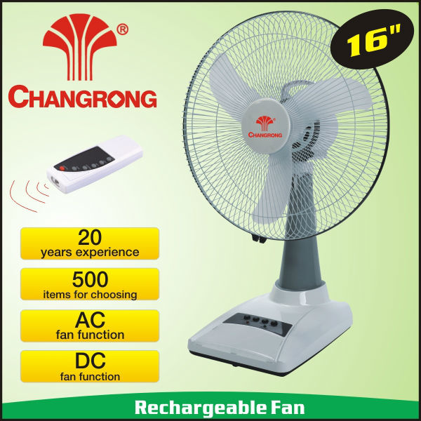 Ningbo electric table fan with solar system charger