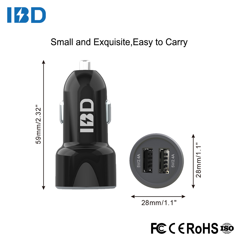 multi usb port rohs ce fcc car charger usb for wholesale price for mobile phone