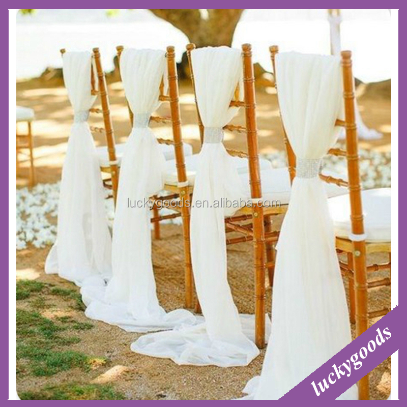 white high quality chair sashes for weddings