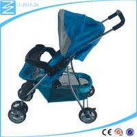 customized 3 position reclining handle shank baby Walker pushchair
