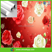 premium quality Eco solvent Glossy self adhesive PP sticker rolls, digital printing PP with adhesive PET , dispaly material