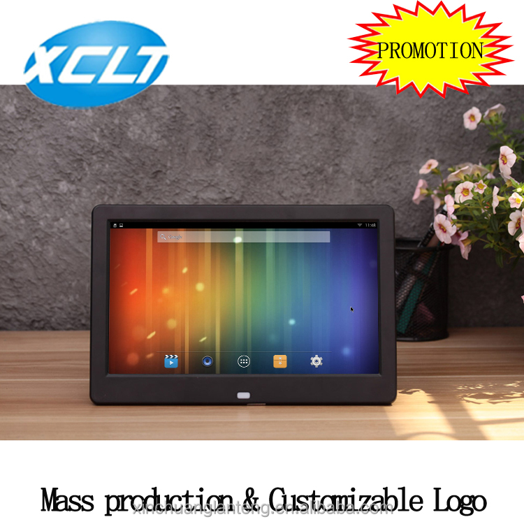 Factory wholesaler 10 inch android system wifi touch screen digital photo frame advertising display with wall bracket