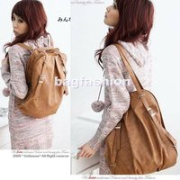 2012 Korean Style Fashion lady 2 Ways PU Leather School Shoulder Bag Backpack