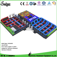 Adults Sports Entertainment Large Size Cheap Jumping Trampoline Park Indoor Park With Slam Dunk For Sale
