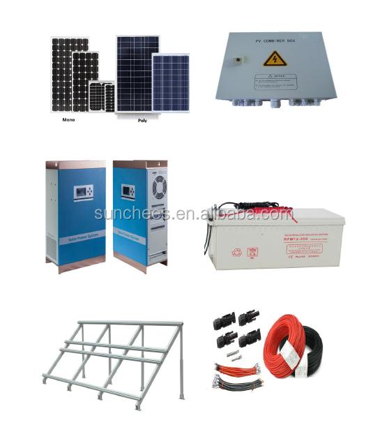 la maison solaire syst me de production d 39 lectricit 5kw. Black Bedroom Furniture Sets. Home Design Ideas
