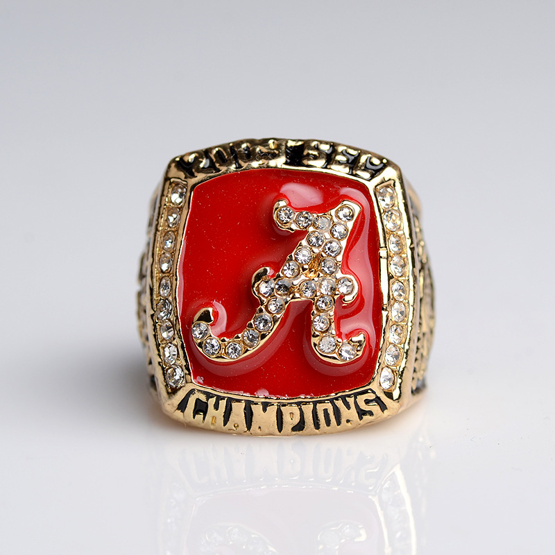NCAA Champion Ring 2009 Alabama Red Tide Team Rugby Champion Ring