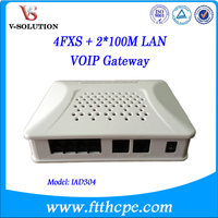4FXS port anolog phone to IP phone VoIP Gateway