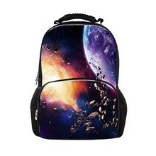 Printing Men's Travel Backpacks Outer Space for School Rucksack