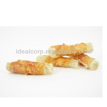 Pet toy chicken wrap natural rawhide dog treats