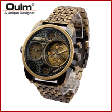 Oulm HT9316 alloy watch, bronze finished watches, wholesale cheap watch