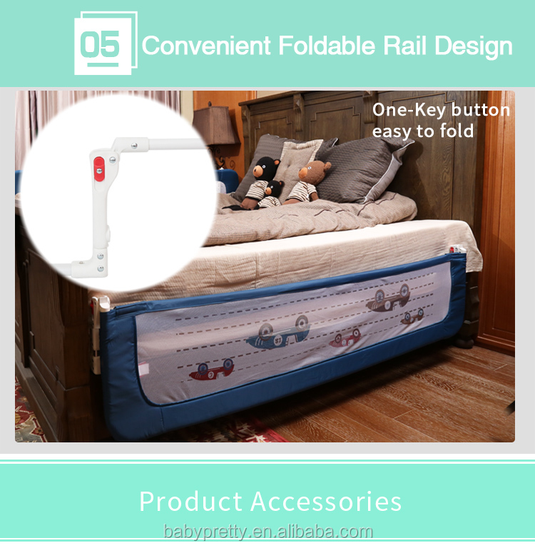 2017 new design baby bed rails safety sleeping bed rail