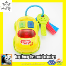 new product 2015 for kids so HOT SALE top quality electric plastic toy key for kids