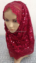 beautiful Sequins muslim women long hijab LP0400