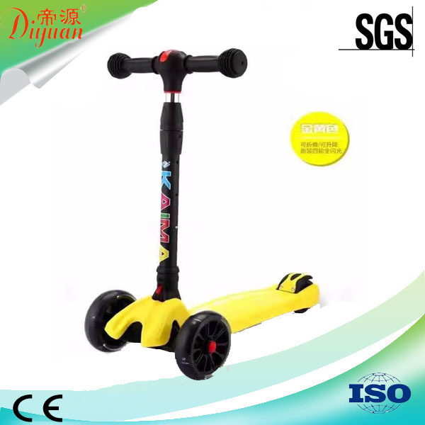 New products foldable kids wide wheel micro kick scooter