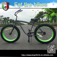 26 inch single speed fat bicycle beach cruiser snow bike chopper bike