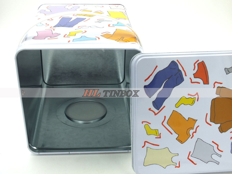 2014 Handle Spuare Laundry Powder Tin Box/Tin Can